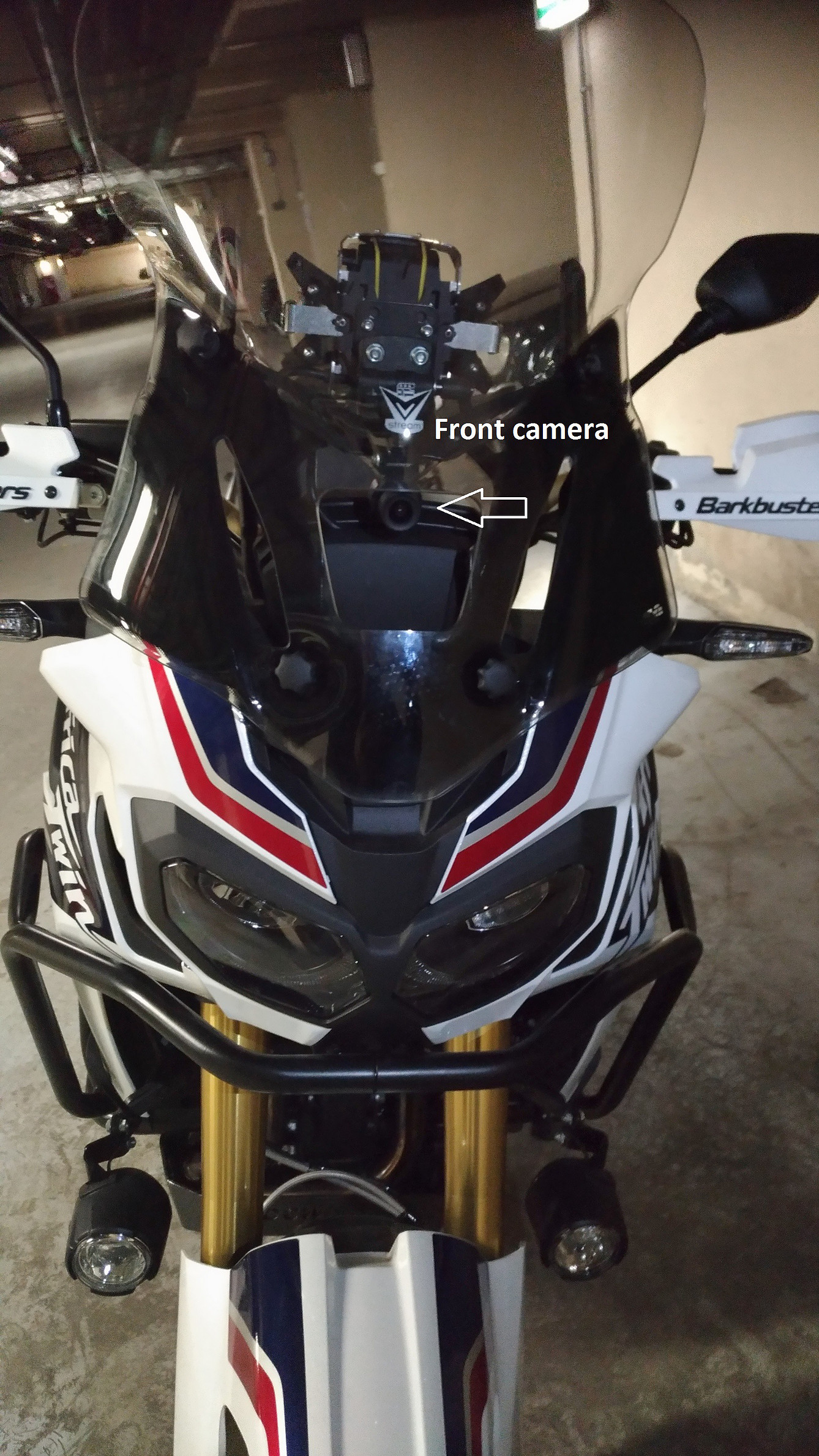 K2 installed on a Honda CRF1000D Africa Twin motorcycle